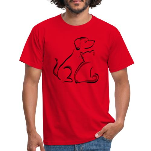 Dog and Cat - Männer T-Shirt