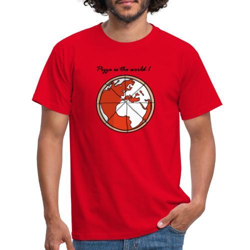 Mondo a forma di pizza - Maglietta da uomo