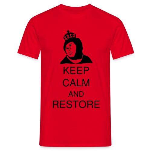 Keep calm and restore - Koszulka męska