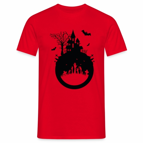 Haunted House - Halloween Design - Männer T-Shirt