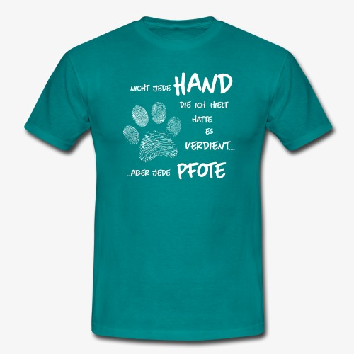 Hand Pfote Hund - Männer T-Shirt