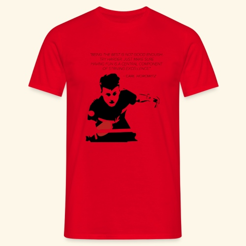 Table Tennis Championship serving - Männer T-Shirt