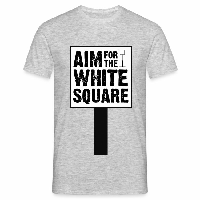 Aim for the white square