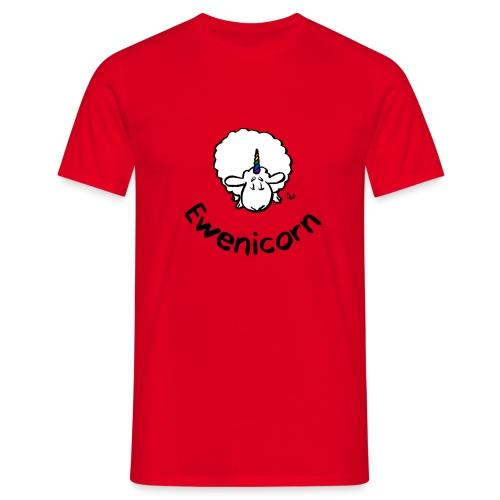 Ewenicorn - it's a rainbow unicorn sheep! (text) - Men's T-Shirt