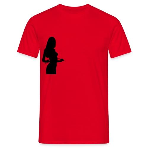 silhouette-Frau - Männer T-Shirt