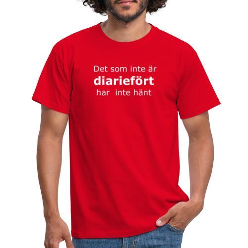 diariefört vit - T-shirt herr