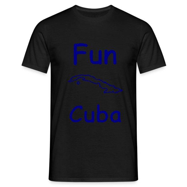 Fun Cuba logo blu con mappa isola