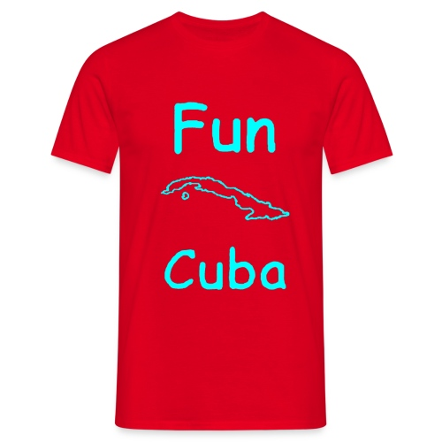 Fun Cuba Celeste - Maglietta da uomo
