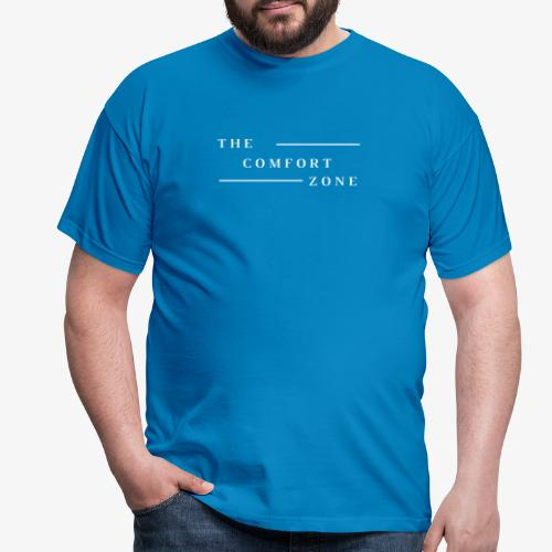 Logo wit The Comfort Zone - Mannen T-shirt