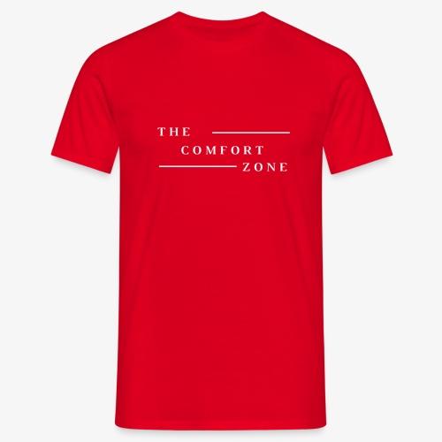 Logo wit The Comfort Zone - Mannen T-shirt