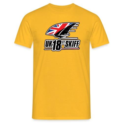 uk18footerblackoutlined - Men's T-Shirt