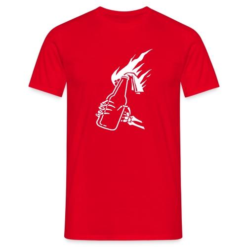Skeleton Molotov - Men's T-Shirt