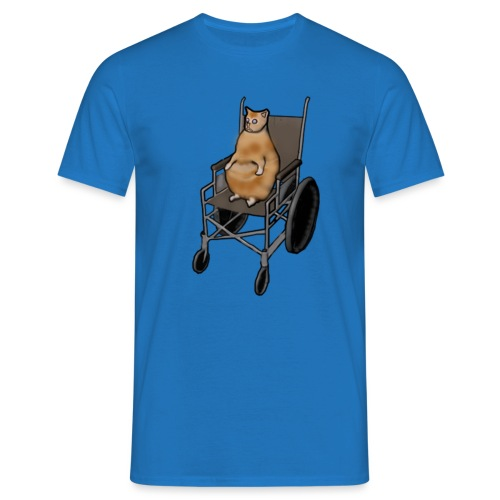Wheelchair Cat - T-shirt herr