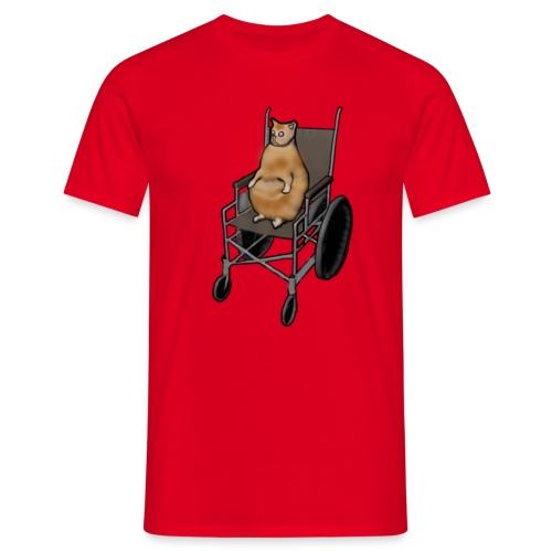 Wheelchair Cat - T-shirt herr