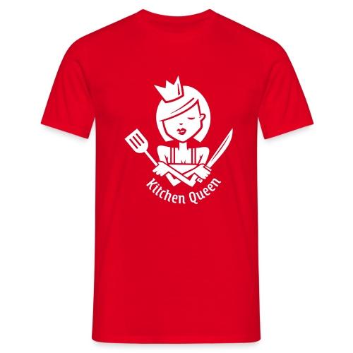 VL126_KitchenQueen_1c_inv - Männer T-Shirt