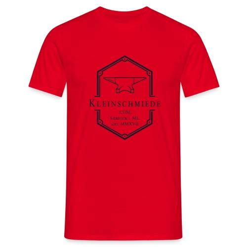 Kleinschmiede Logo 01 3200 3825 sw - Männer T-Shirt