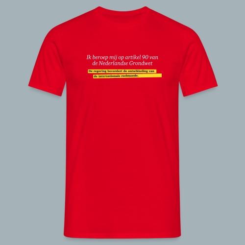 Nederlandse Grondwet T-Shirt - Artikel 90 - Mannen T-shirt