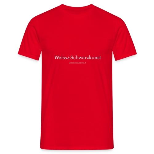 weissundschwarzkunst weiss - Männer T-Shirt
