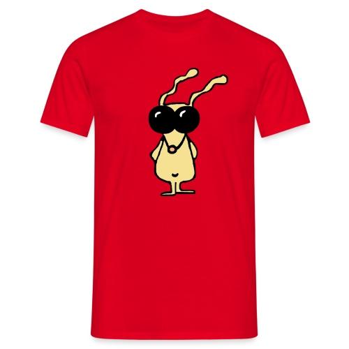 slick bunny bewerkt transparant new - Mannen T-shirt