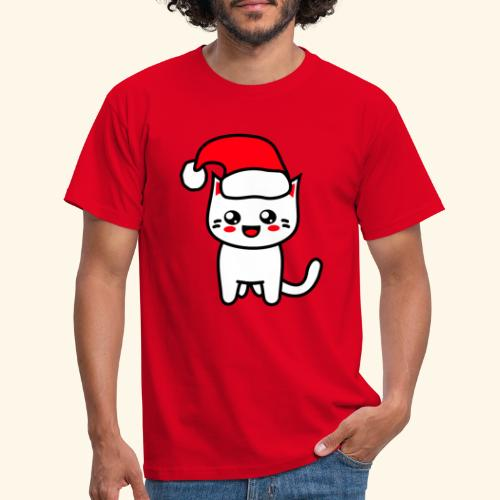 Kawaii Kitteh Christmashat - Männer T-Shirt