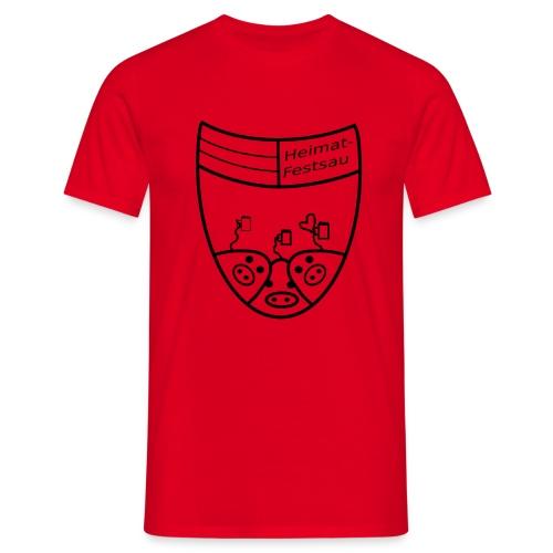Heimatfestsau - Bier - Männer T-Shirt