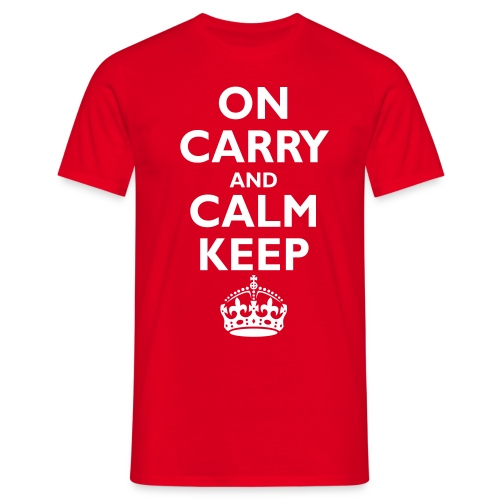Keep calm upside down - Men's T-Shirt