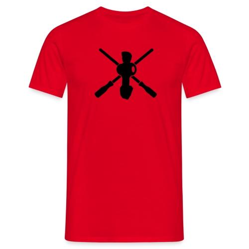 Crossed rods - Männer T-Shirt