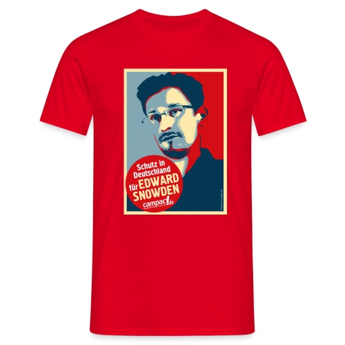 Motiv Snowden Obama SPREADSHIRT 01 jpg - Männer T-Shirt
