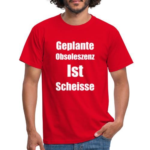 Obsoleszenz Weiss Schwarz - Männer T-Shirt
