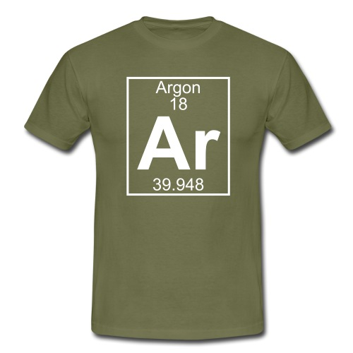 Argon (Ar) (element 18) - Men's T-Shirt