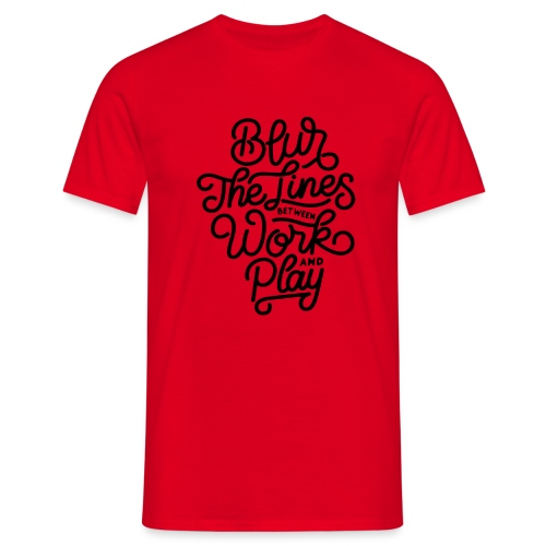Blur the lines between work and play. - T-shirt Homme