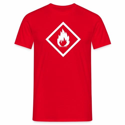 Achtung Brandgefahr / Feuer / leicht entzündlich - Männer T-Shirt
