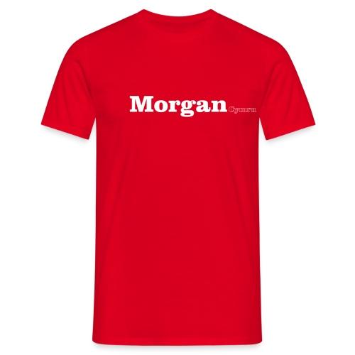 morgan cymru white - Men's T-Shirt
