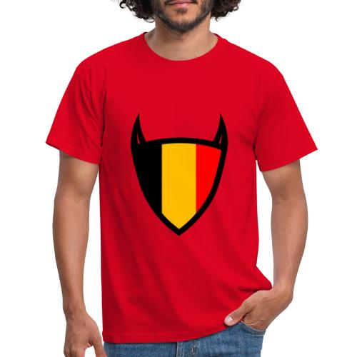 België nationale schild duivel - T-shirt Homme