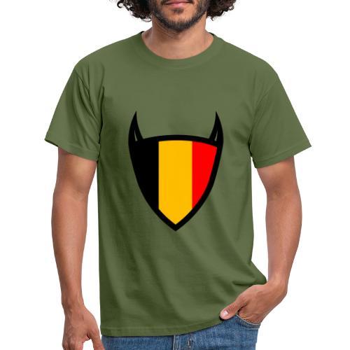 Diable du bouclier national belge - T-shirt Homme