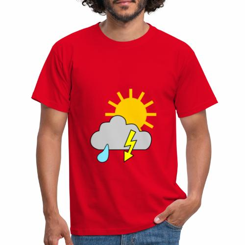 Sun - rain - thunderstorm - Men's T-Shirt