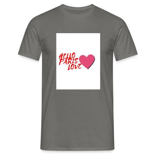 hello paris love rouge - T-shirt Homme