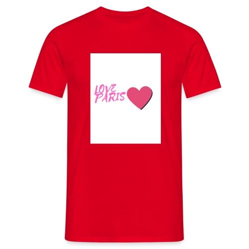 love paris rose - T-shirt Homme