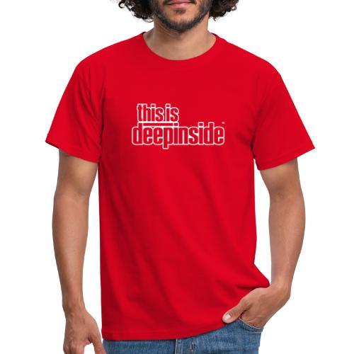 This is DEEPINSIDE logo white - Men's T-Shirt