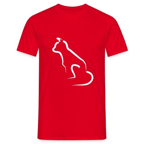 katten silhoutte - Mannen T-shirt