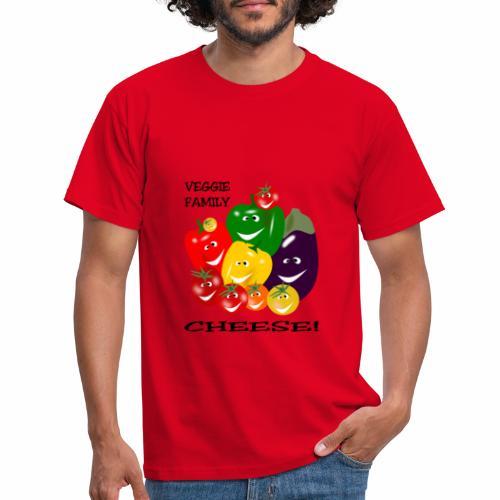Veggie Family - Cheese - Men's T-Shirt