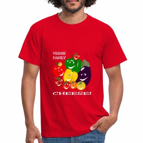 Veggie Family - Cheese! - Men's T-Shirt