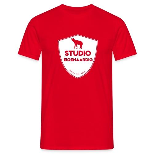 wit logo - Mannen T-shirt