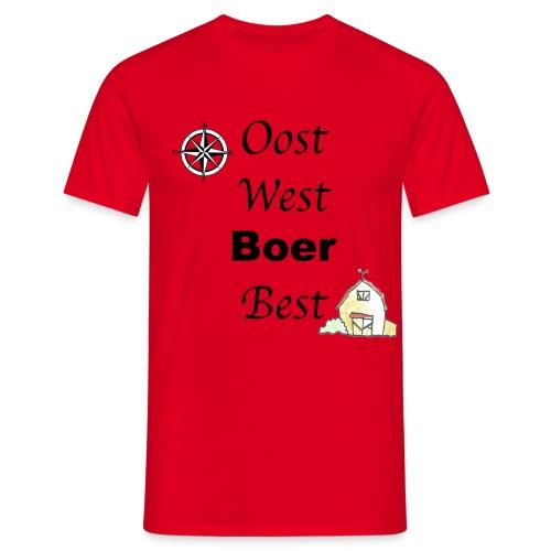 Oost West Boer Best - Mannen T-shirt