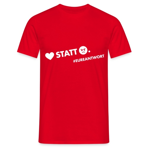 Herz statt Hass - Männer T-Shirt