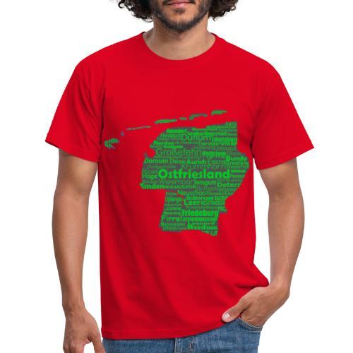 Ostfrieslands Orte - Männer T-Shirt