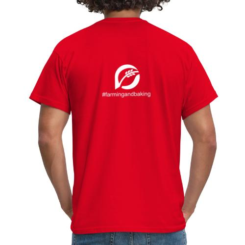 farningandbaking onlywhite - Männer T-Shirt