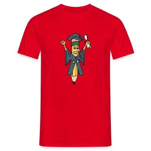 Geslaagd potlood - Mannen T-shirt