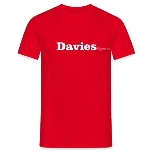 davies cymru white - Men's T-Shirt