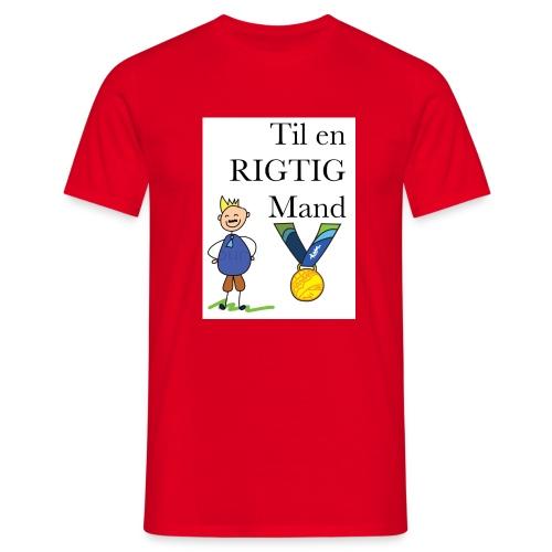 En rigtig mand - Herre-T-shirt
